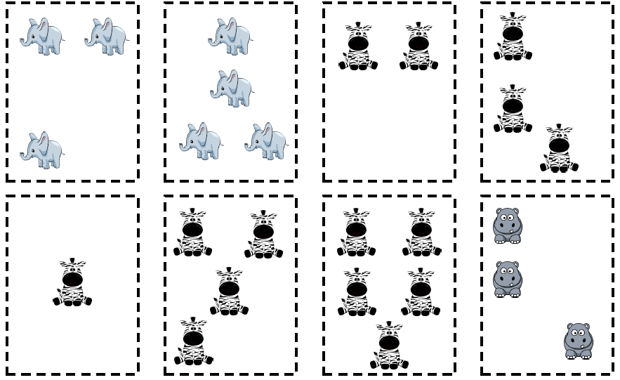 juego busca 5 animales
